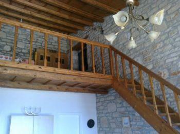Treppe mit Zwischenstock/mezzanine