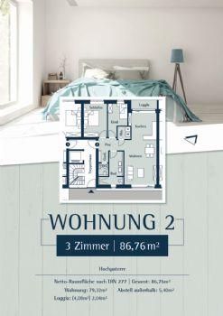 Wohnung 2: Plan 27a - Hochparterre rechts