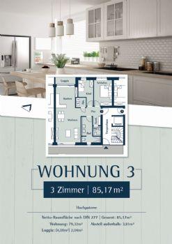 Wohnung 3: Plan 27 - Hochparterre links