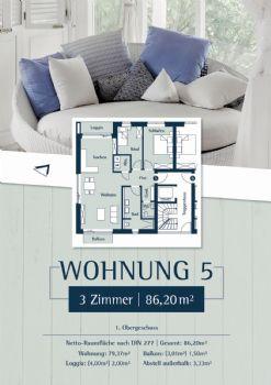 Wohnung 5: Plan 27a - 1.OG links