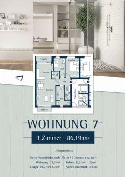 Wohnung 7: Plan 27 - 1,OG links