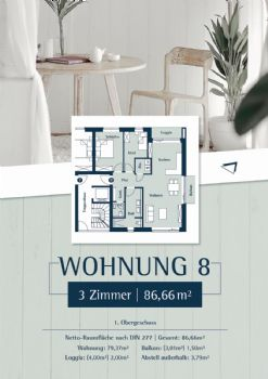 Wohnung 8: Plan 27 - 1.OG rechts
