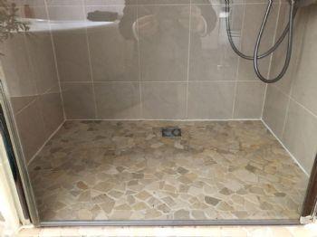 begehbare Dusche im OG