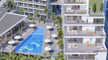 Ansicht Pool / Terrassenwohnungen