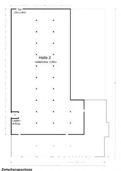 Grundriss Halle 2