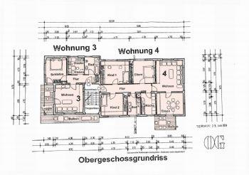 Grundriss Obergeschoss W 3+4